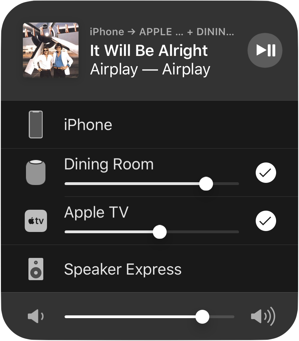 AirPlay 2 in iOS
