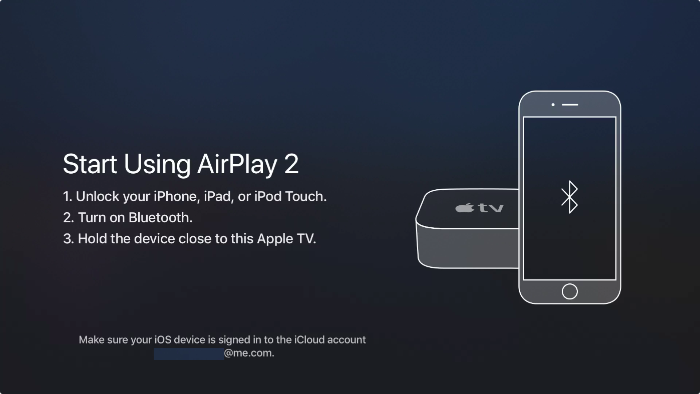 AirPlay 2 tvOS setup