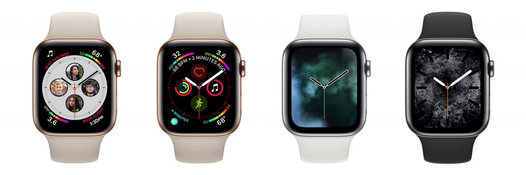 Apple Watch Series 4 faces 1024x342