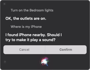 Siri in Mojave example
