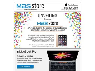 MBS Online Shop Grand Opening with Specials on iPad, Mac and Accessories