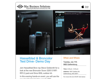 Join Hasselblad & Broncolor at MBS for a Demo Day!