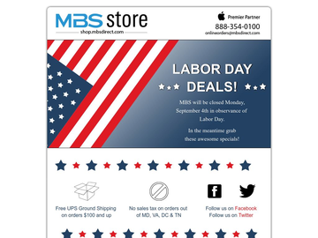 MBS Labor Day Specials!