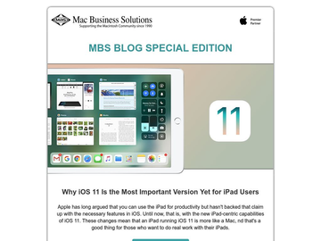 MBS BLOG Special Edition on iOS 11,High Sierra & watchOS 4