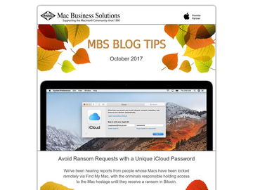 MBS Blog Tips: October 2017 Edition