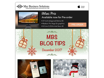 MBS Blog Tips: December 2017 Edition