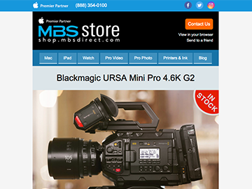 Blackmagic URSA Mini Pro G2 and Pocket Cinema Camera 4K In Stock