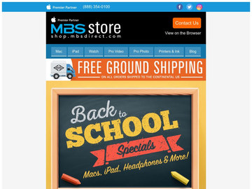 Deals on Mac, iPad, Beats Headphones and More in our Back to School Specials!